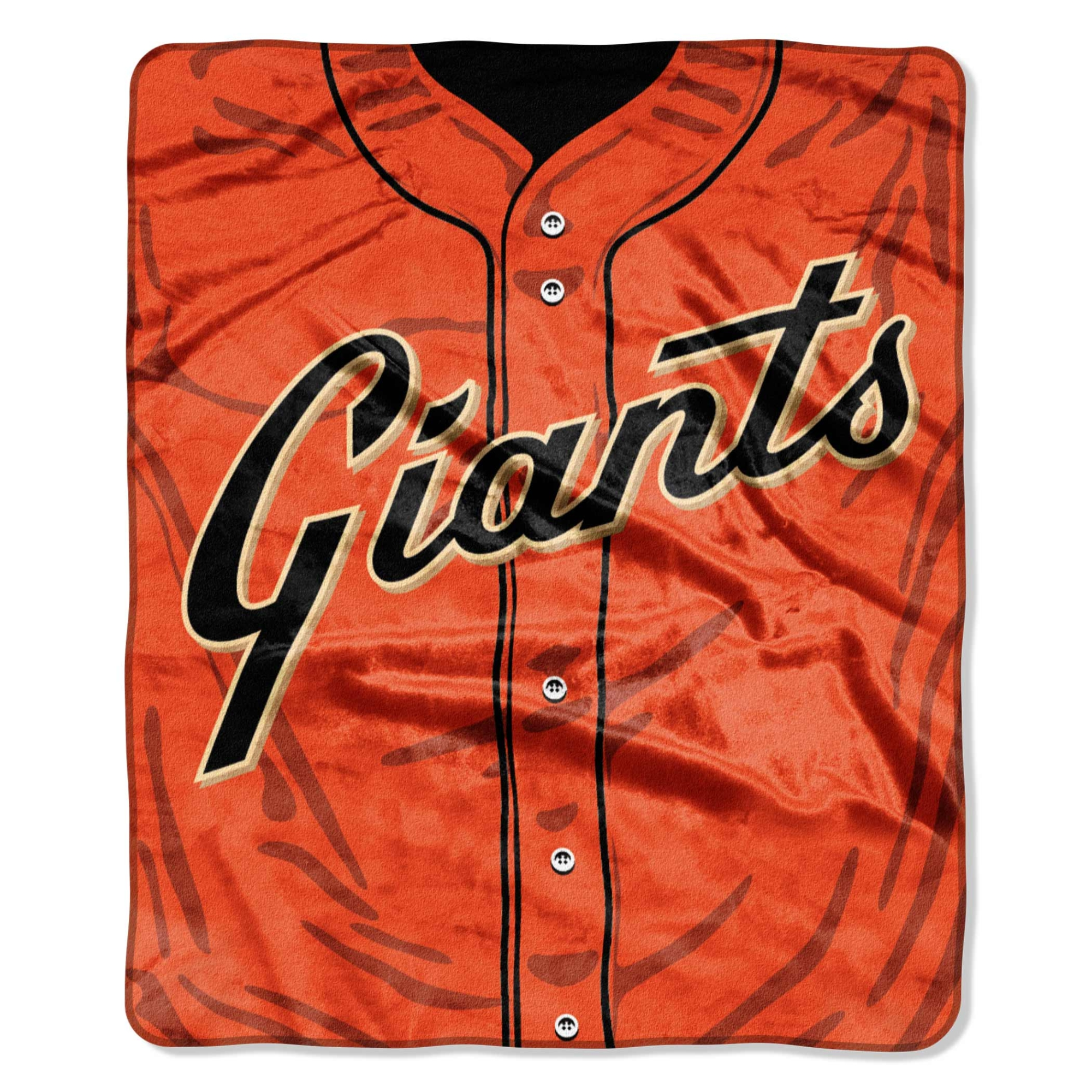"San Francisco Giants 50"" x 60"" Plush Jersey Blanket - No Size"