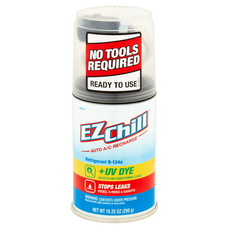 EZ Chill R-134a Refrigerant With Leak Sealer and UV Dye, 10.25