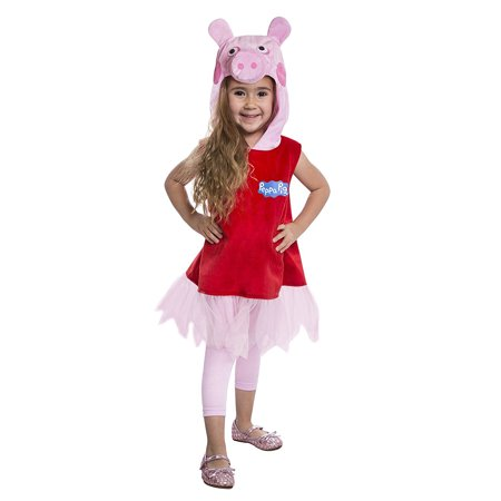 Peppa Pig Deluxe Baby Toddler Dress Costume - Baby Peppa Pig Costume