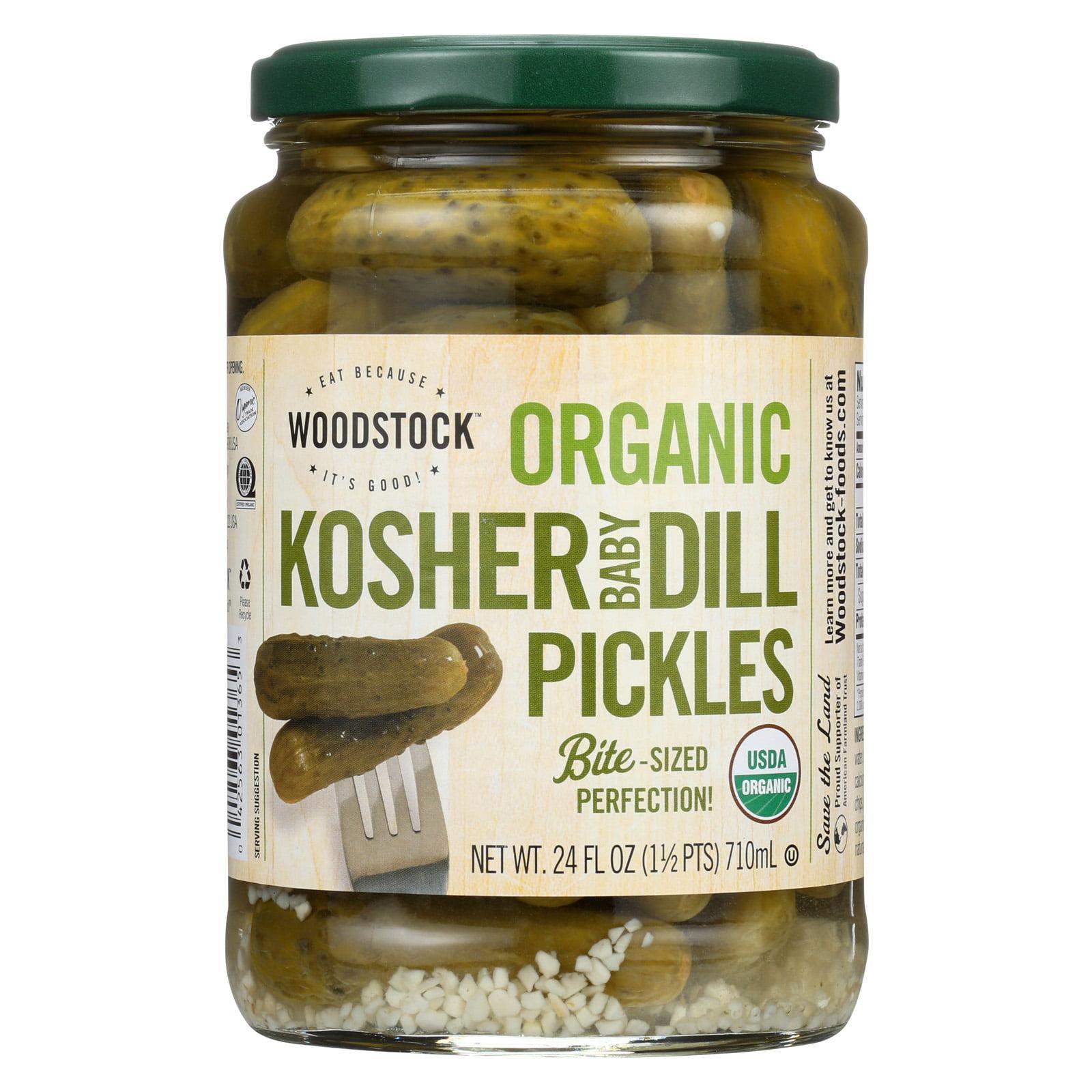Woodstock Organic Kosher Baby Dill Pickles - Case of 6 - ...