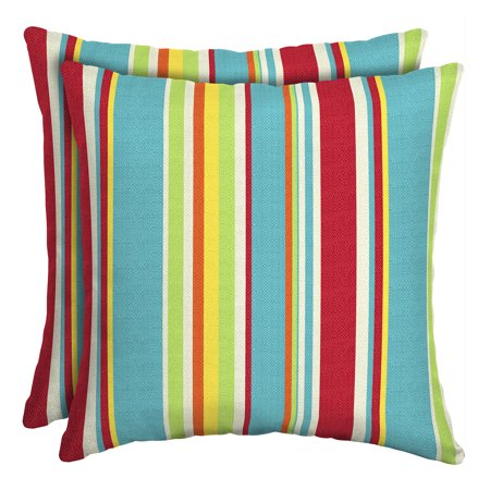 - Mainstays Multi Stripe 16 x 16 in. Outdoor Toss Pillow, Set of 2