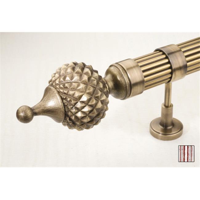 WinarT USA 8. 1100. 30. 26. 280 Palas 1100 Curtain Rod Set - 1. 25 inch - 110 inch