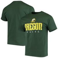 Men's Russell Athletic Green Oregon Ducks Crew Basic Logo T-Shirt