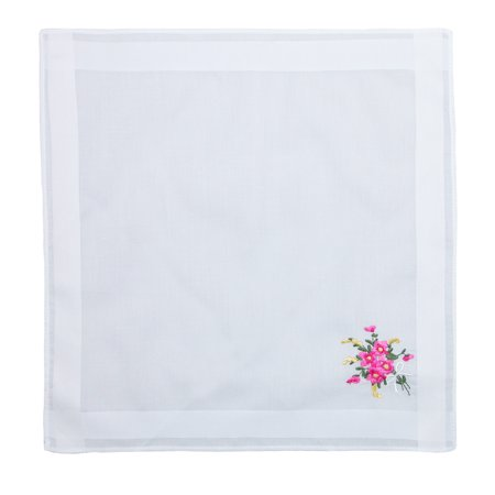 Selini Women's Floral Embroidered Cotton Handkerchief Set (Pack of 3) - image 4 of 4