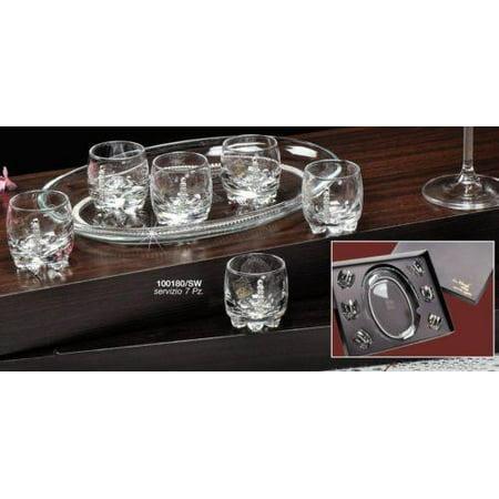Le Monde Cadeaux, Swarovski Jeweled Crystal Vodka Shot Glasses with Tray for $<!---->