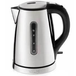 Breakfast Set Electric Kettle with Brushed Chrome and Stainless Steel Housing