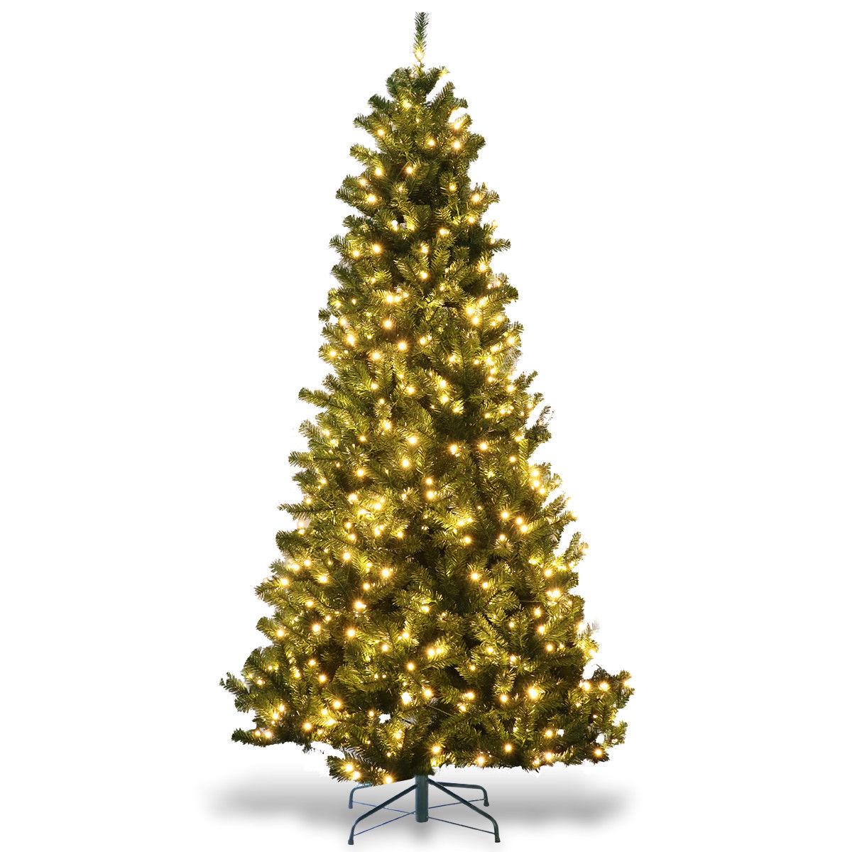 Gymax 7.5' Pre-Lit LED Light Christmas Tree Artificial PVC with Stand Holiday Decor - image 2 of 7
