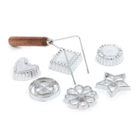 Norpro Swedish Rosette Cookie & Timbale Pastry Set 6 Molds New wood handle 3286