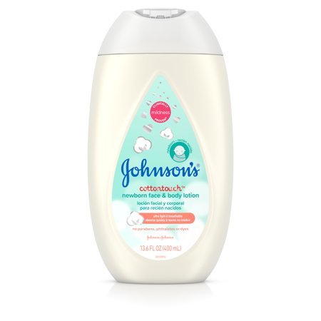 Johnsons CottonTouch Newborn Baby Face and Body Lotion, 13.6 fl oz
