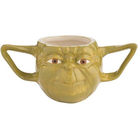 Disney Star Wars Yoda 16oz Ceramic Coffee Mug Sculpted Hot Beverage Tea