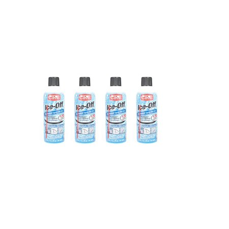 CRC 05346 Ice-Off Windshield Spray De-Icer - 12 Wt Oz. Pack of