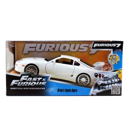 Jada Toys Fast & Furious 1995 Toyota Supra Die-Cast Vehicle 1:24 Scale Glossy White