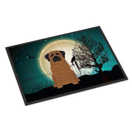 Carolines Treasures BB2205MAT Halloween Scary Mastiff Brindle Indoor or Outdoor Mat, 18 x 0.25 x 27 in. - image 1 de 1