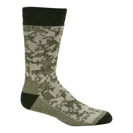 Cameo Men's Thermal Wool Blend Crew Socks w/ Reinforced Durable Sole 4706 Sand Wool Blend