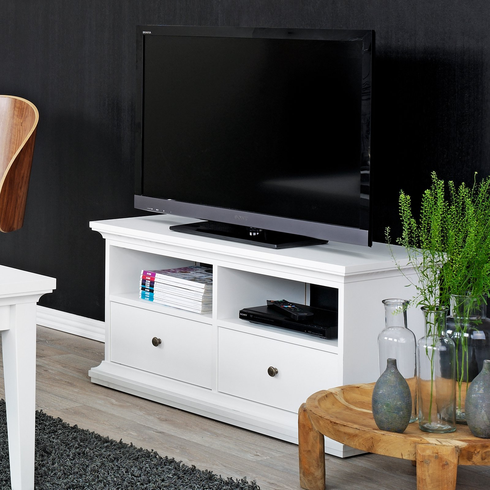 Tvilum Sonoma Collection 41 in. TV Stand - White