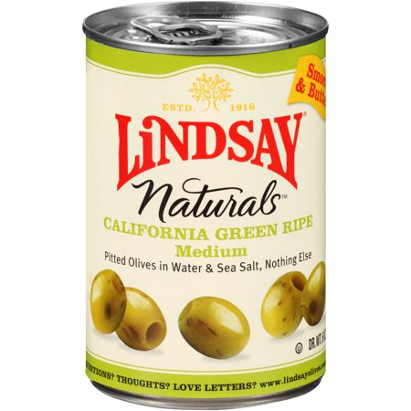 (3 Pack) Lindsay Naturals California Green Ripe Olives 6 Oz Pull-Top