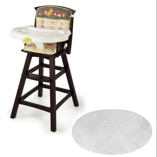 Summer Infant Fox & Friends Classic Comfort Wood High Chair with Floor Mat