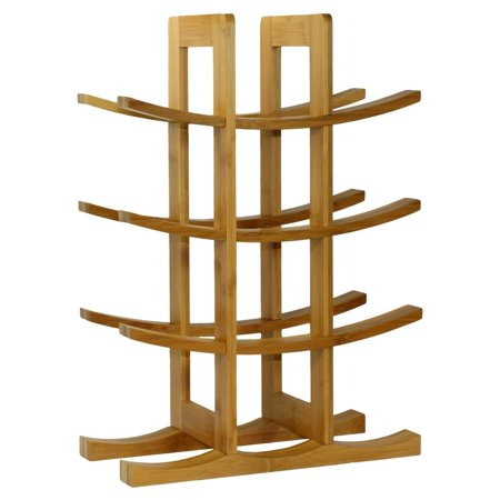 Sustainable Bamboo Media (Free Standing 12-Bottle Bamboo Wine Rack Storage Stand (Natural), Made from Natural sustainable resoure: Bamboo. Assembled Dimensions: 15.75 inches H x 5.., By DisplayGifts Ship from)