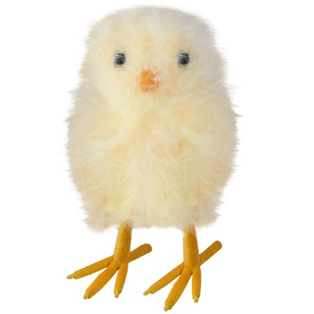 "5"" décoratif jaune Furry Chick Figure Face avant - image 2 de 2"