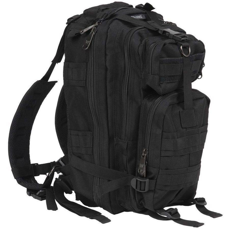 "Bulldog BD410 Extreme Compact Level III Assault Backpack, Nylon, 18"" x 10"" x 10"", Black"