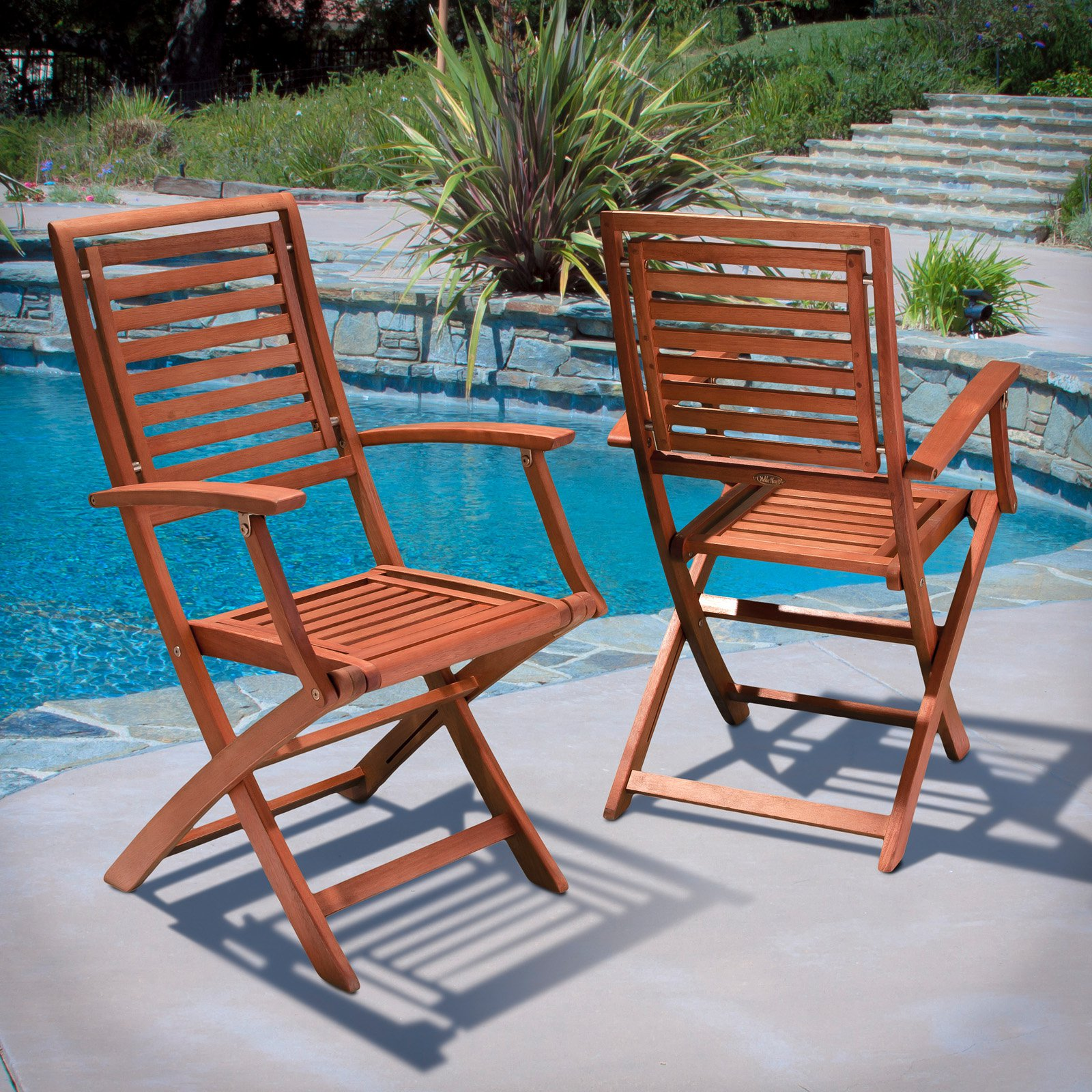 Americana Hard Wood Outdoor Folding Dining Chair - Set of 2