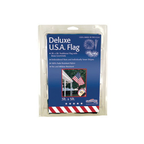 Nylon US Flag (Sewn & Embroidered) 3'X5'-