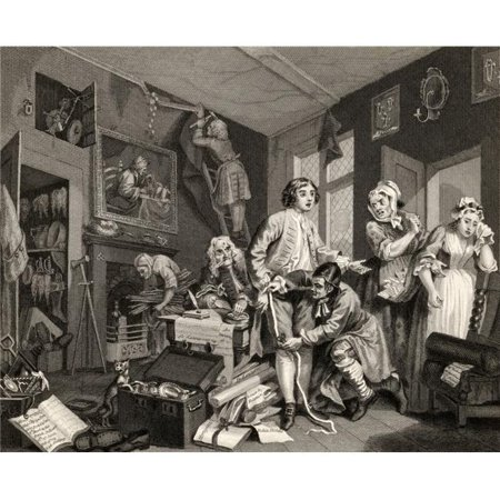 Posterazzi DPI1861964LARGE The Rakes Progress the Young Heir Takes Possession of the Misers Effects From the Original Picture by Hogarth From the W Poster Print, 32 x 26 - image 1 of 1