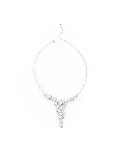 Bejeweled Cubic Zirconia Bib Necklace