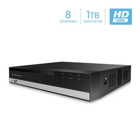 Amcrest 1080-Lite 8CH DVR Digital Recorder, HD Pentabrid (5-1) Supports  960H/HDCVI/HDTVI/AHD & Amcrest IP Cameras, Pre-Installed 1TB HDD, Cameras  NOT