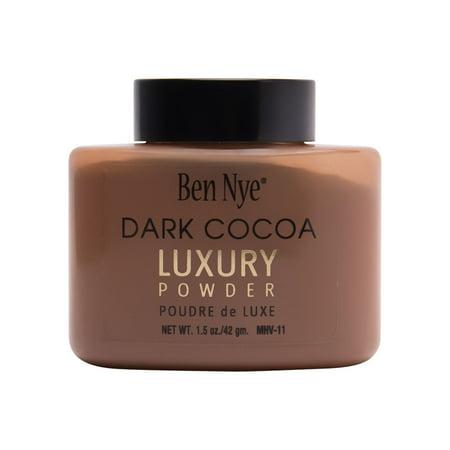Ben Nye Luxury Powder, Dark Cocoa 1.5oz Shaker Bottle
