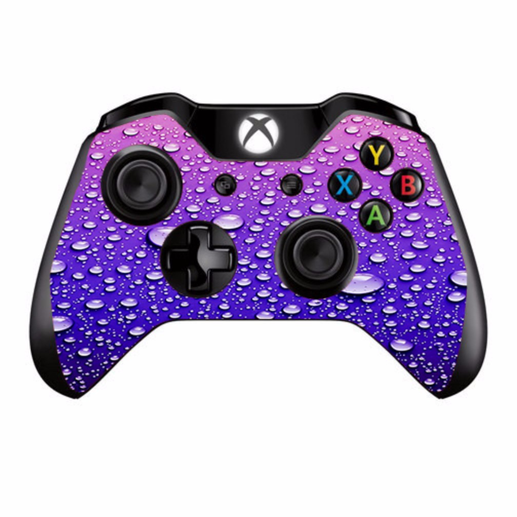 Skins Decals For Xbox One / One S W/Grip-Guard / Waterdrops On Purple