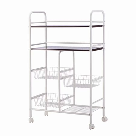 439c2505812f 5-Tier Wire Metal Mesh Shelves, Utility Rolling Cart Trolley with Lockable  Wheels, Storage Organizer Easy Moving Cart Shelving Units for Kitchen ...