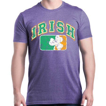 Shop4Ever Men's Distressed Irish Flag St. Patrick's Day Graphic T-shirt - Halloween Day In Ireland