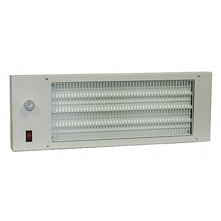 """TPI Corp. 22-3/4"""" x 1-3/4"""" x 8"""" Radiant Heat Panel Electric Space Heater, White, 120VAC"""