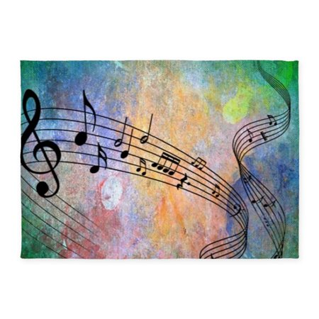 Music Rug (CafePress - Abstract Music - 5'x7'Area)