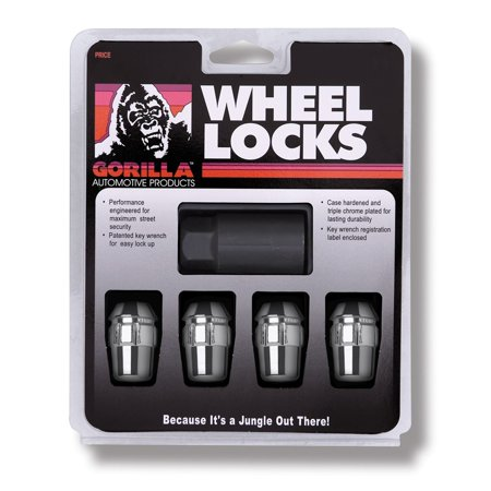 Gorilla Automotive 71621N Acorn Wheel Locks (12mm x 1.25 Thread Size) - Pack of