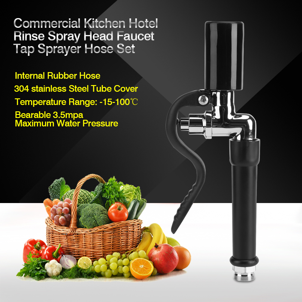 Dilwe Commercial Kitchen Hotel Rinse Spray Head Faucet Tap Sprayer + ...