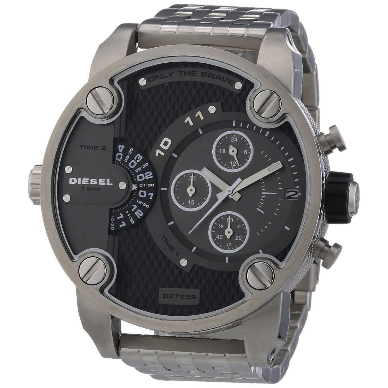 Diesel DZ7259 Dual Time Zone Stainless Steel Men's Quartz Wrist Watch with Date