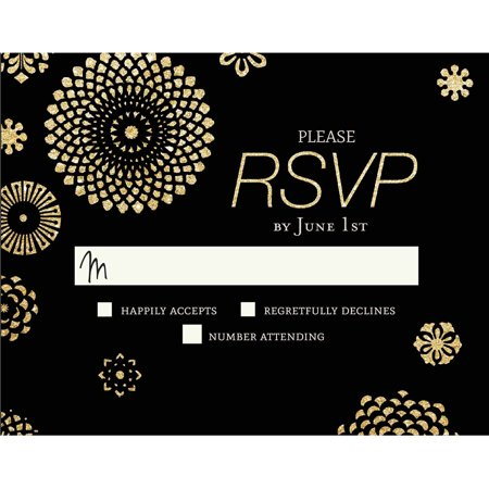 Glitter bursts standard rsvp walmartcom for Glitter wedding invitations walmart