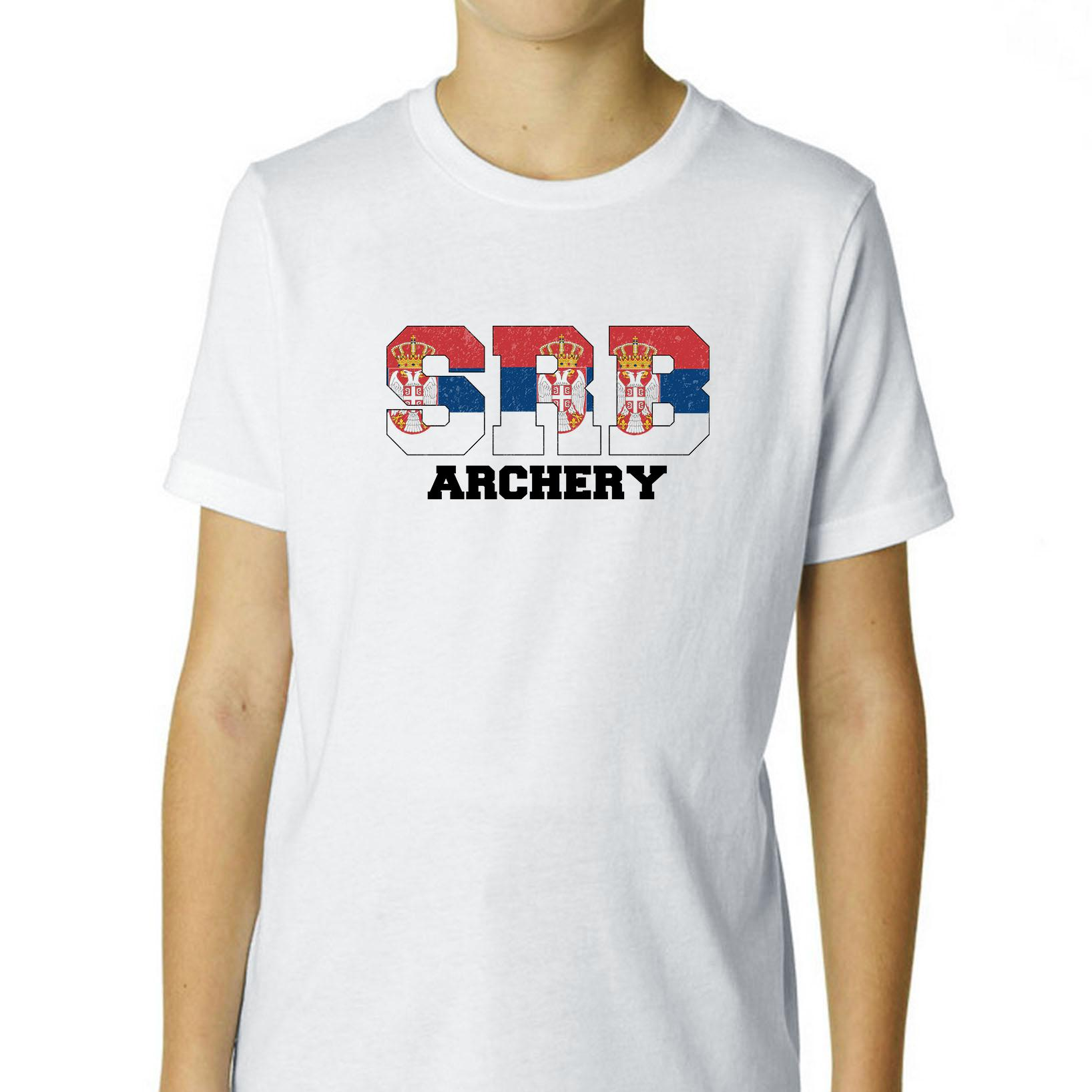 Serbia Archery - Olympic Games - Rio - Flag Boy's Cotton Youth T-Shirt
