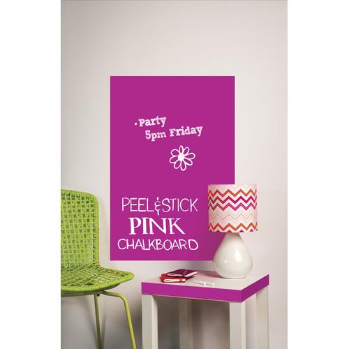 """Wallies Peel & Stick Big Pink Chalkboard, 25"""" x 38"""