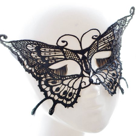 Halloween Party Fashion Costumes Sexy Lady Hollow Out Catwoman Lace Mask Black - Halloween Lace Mask