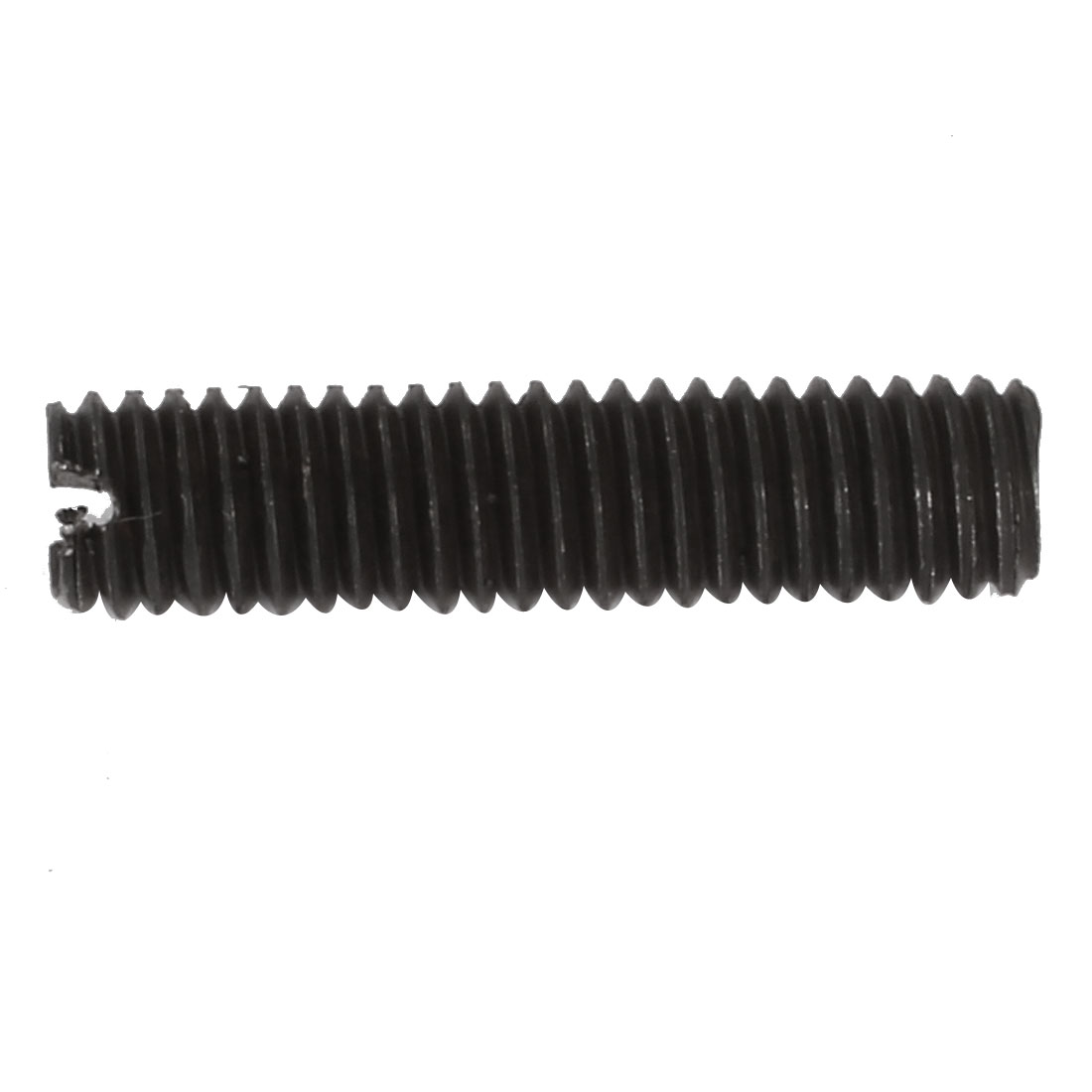 50 Pcs M6x25mm Carbon Steel Slotted Drive Flat Point Grub Screw - image 1 of 3