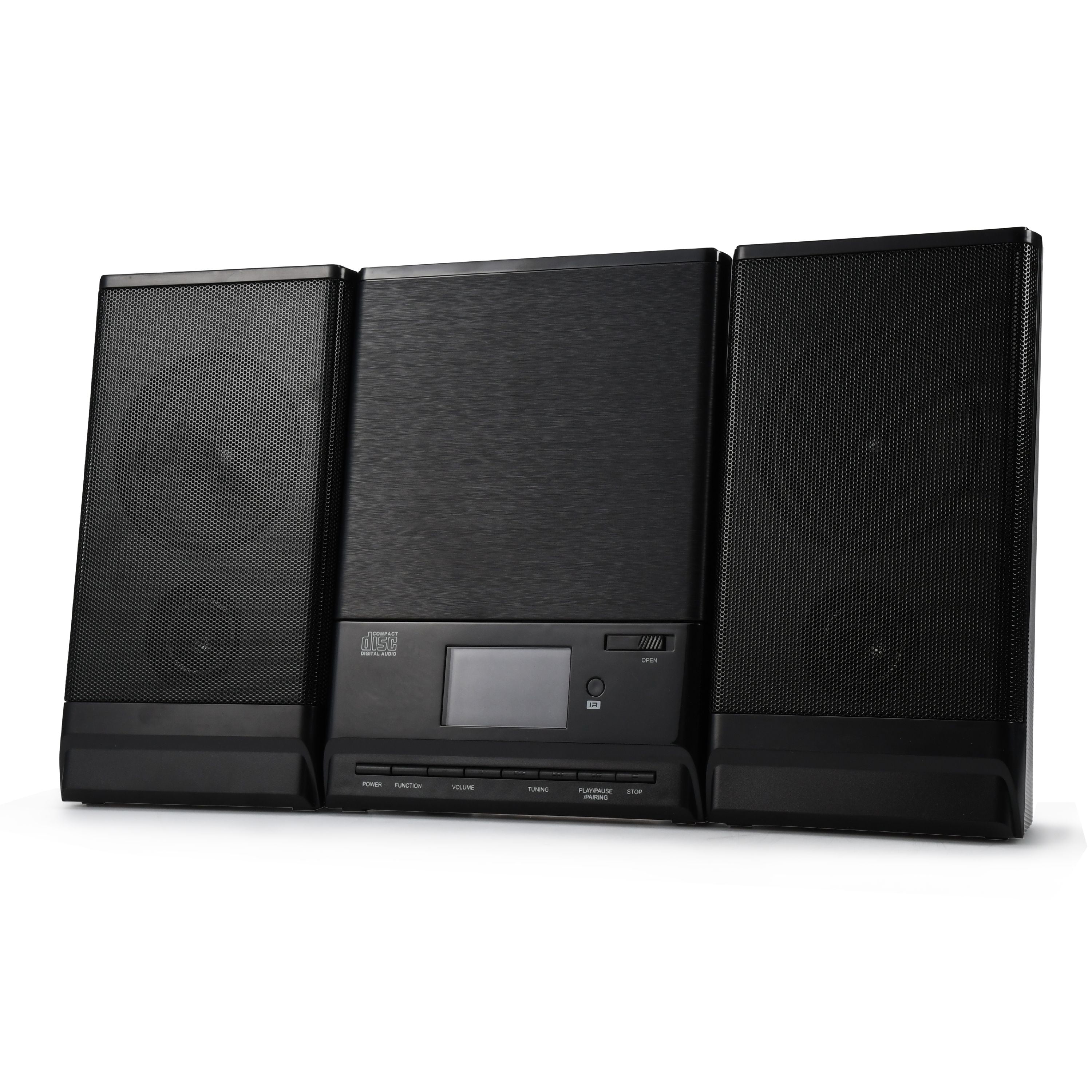 Onn Mini CD Stereo System with Bluetooth, FM Radio and Remote