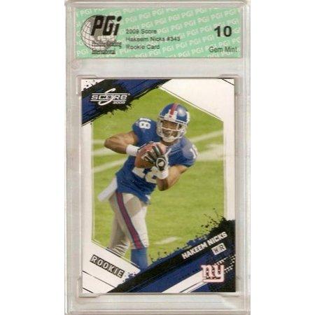 Hakeem Nicks 2009 Score NY Giants WR Rookie Card PGI 10 (Hakeem Nicks Rookie Card)