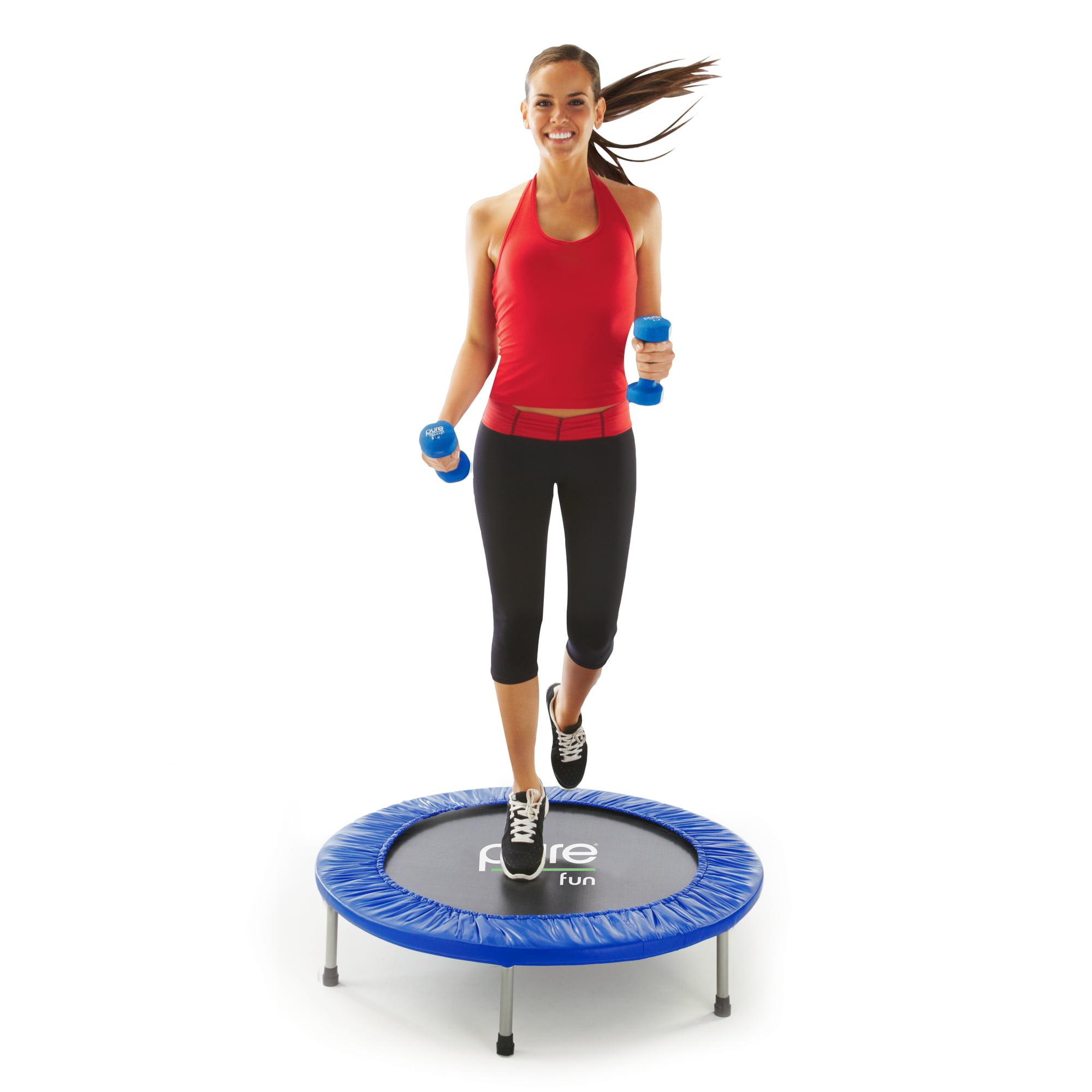 Pure Fun 38-Inch Mini Exercise Trampoline, Blue