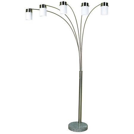 ore international 83 steel arch floor lamp brushed nickel walmart. Black Bedroom Furniture Sets. Home Design Ideas