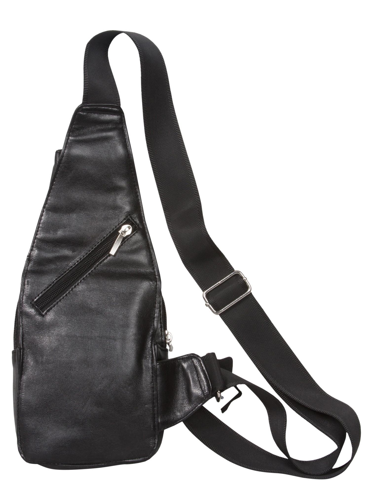 Gravity Travels Leather Hobo Small Sling Backpack Handbag