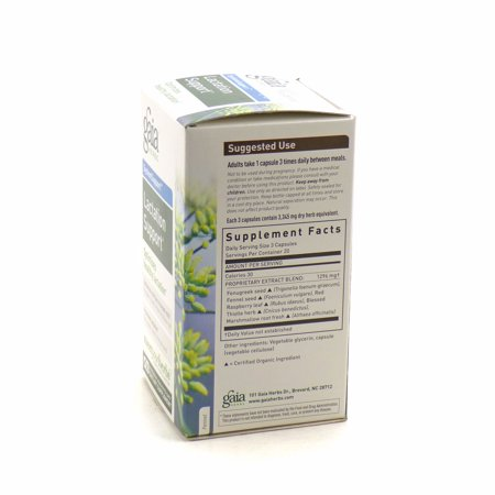 Gaia Herbs Lactate Support, Vegetarian Liquid Phyto-Capsules, 60 ea