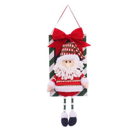 Clearance! Santa Snowman Pendant Christmas Decorations Christmas Window Ornaments Outdoor Indoor Decorative Signs - Walmart.com